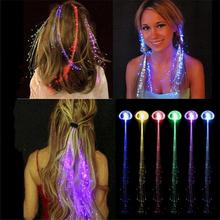 Colorful LED Wigs Glowing Flash LED Hair Braid Clip Hairpin Decoration Ligth Up Show Easter Party supplies(China)