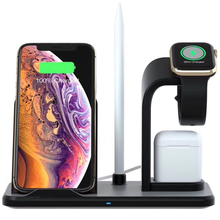N35 Qi 3-in-1 fast Wireless induction Charger for iPhone &AirPods Quick Charging Station iwatch 4/3/2/1 Bracket stand dock