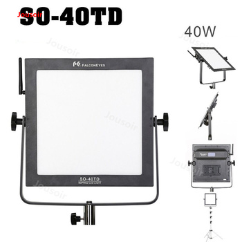 FalconEyes SO-40TD 40W led panel lamp square soft indoor Studio Light for film shooting photography lighting  CD50 T06