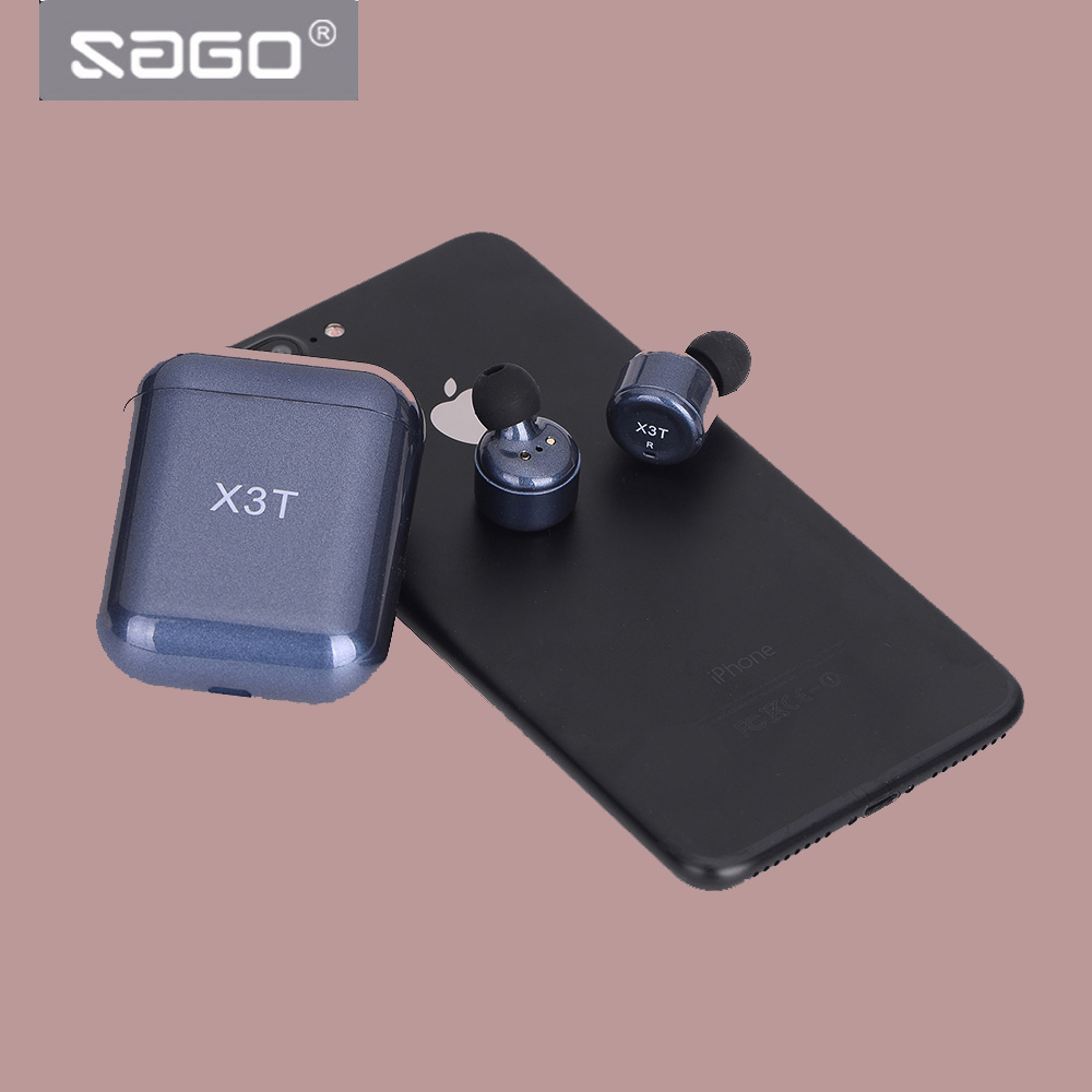 SAGO X3T Sport In Ear Earphones Wireless Bluetooth 4.2 Stereo earbuds with Mic 240h Long standy for Xiaomi iphone Samsung phones ttlife high quality stereo earphone wireless bluetooth 4 1 sports earphones ear hook earbuds with mic for iphone xiamo phones