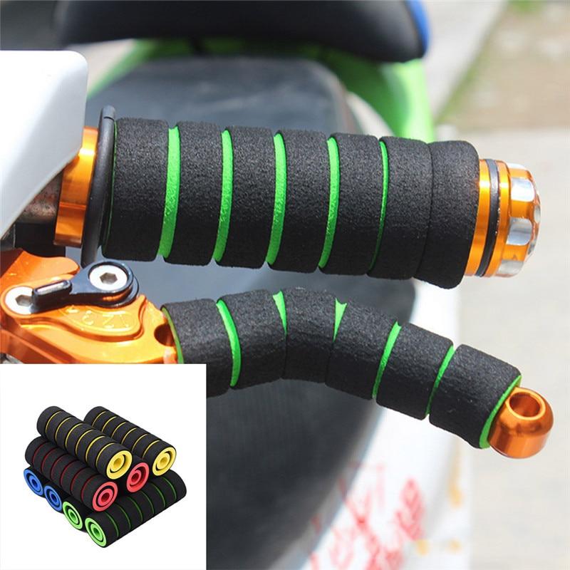 4pcs/Set Universal Grip Comfort Sponge Foam Handle Bar Motorcycle  Dirt Bike E-bike Bicycle Handlebar Grip Cover & Levers Cover