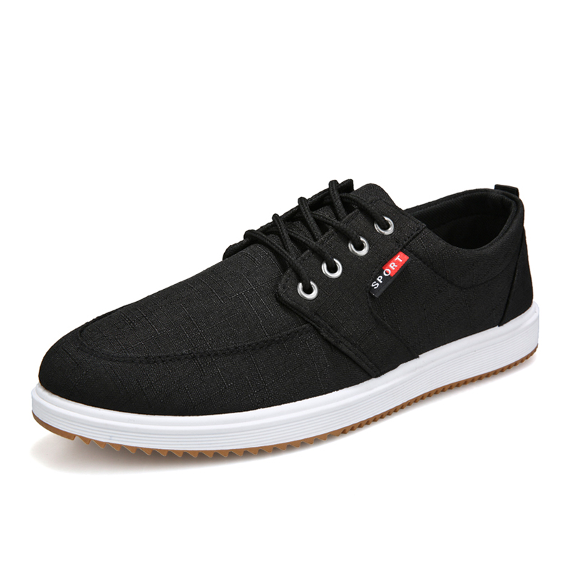 YWEEN Spring Men Casual Shoes Men Fashion Sneakers Lace Up Men Solid Lace Up Canvas Shoes Large size 38 45 in Men 39 s Casual Shoes from Shoes