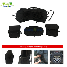 j309  for jeep wrangler jk spare tire storage bag car accessories auto product offroad Backup tire multi-function storage bag мультитул jeep multi function knife fitter jeep