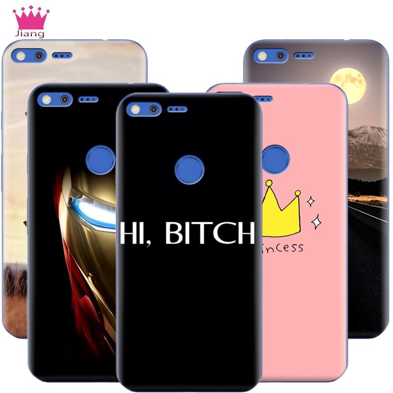 For Google Pixel XL Case 3D Print Ultra Thin Hard Plastic Case For Google Pixel XL 5.5''/ Pixel 5.0'' Pink Princess Girl