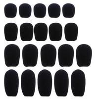 5 pcs preto microfone fone de ouvido espuma esponja pára brisas mic capa 5 tamanhos Acessórios de microfone     -