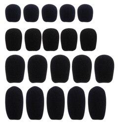 5 sztuk czarny zestaw słuchawkowy z mikrofonem gąbka piankowa szyba przednia Mic Cover 5 rozmiarów Akcesoria do mikrofonów Elektronika użytkowa -