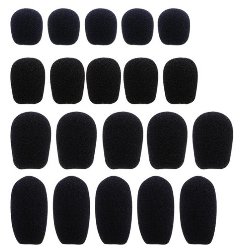 5pcs-black-microphone-headset-foam-sponge-windscreen-mic-cover-5-sizes