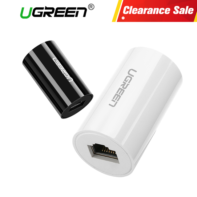 Ugreen RJ45 Ethernet Adapter 8P8C Female to Female Anti-Thunder Rj45 Connector Network Extension Cable Adapter Ethernet Cable