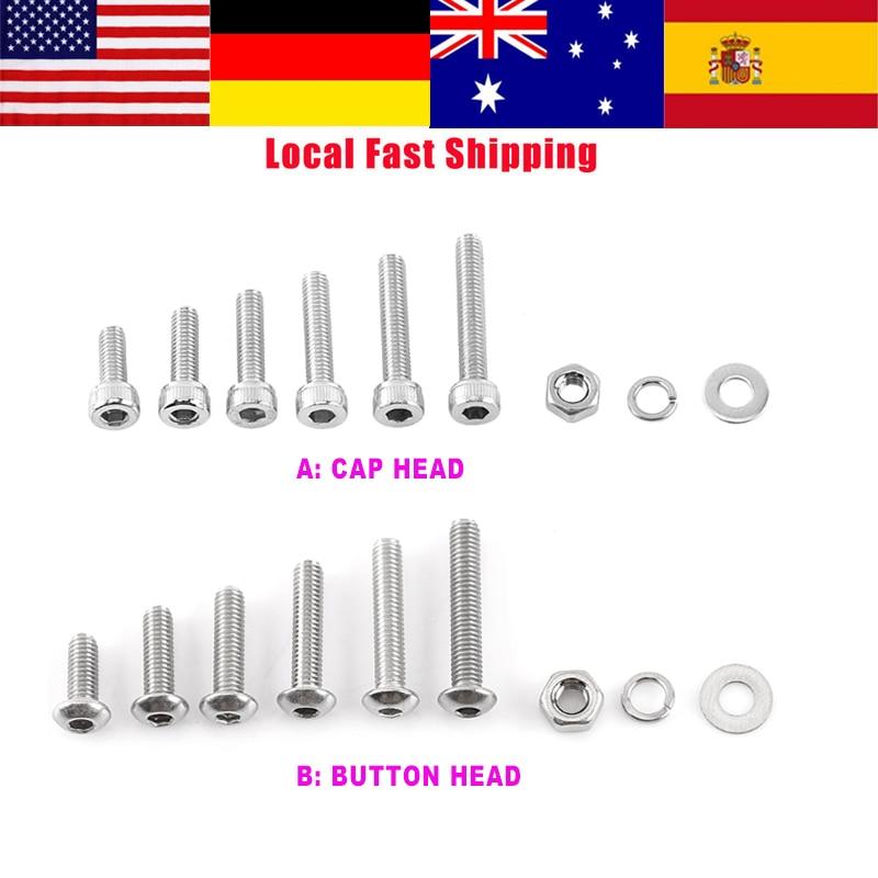Nut 5135 Piece Metric Hex Head Cap Screw Bolt M20 Coarse Thread Set and Washer Assortment M6