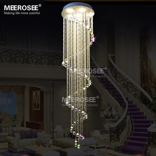 Spiral Crystal Light Fixture Long Crystal chandelier Light lustre de cristal for staircase, stairs, foyer Crystal Stair Lamp villa stairs crystal chandeliers double staircase lights long chandelier stairs lantern floor in the floor hollow staircase lamp