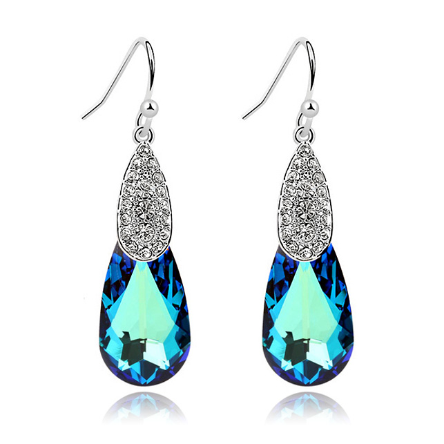 Hot Selling Luxury earrings for women Crystals from Swarovski bijoux earings Accessories Brinco Bijouterie