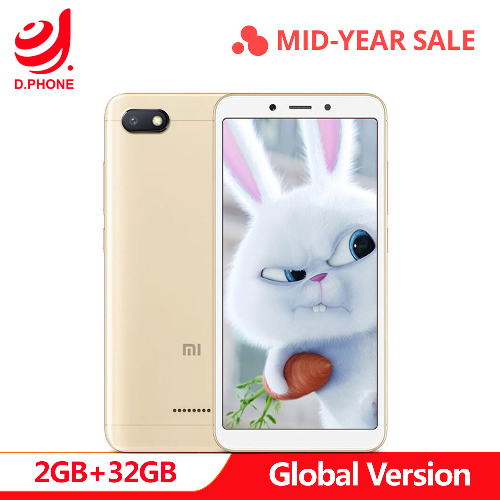 Spain Global Version Xiaomi Redmi 6A 6 A 18:9 Helio A22 MIUI 9 2GB RAM 32GB ROM 4G LTE 13.0MP Face Recognition Smartphone