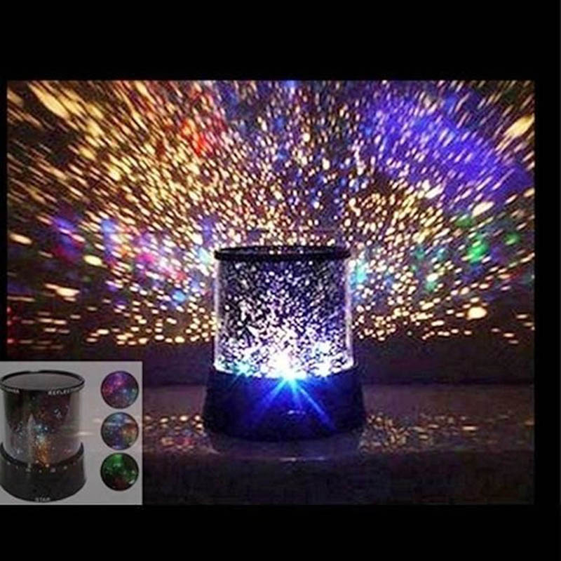 Random Color Cosmos Light Lamp Romantic Star Master Sky Night Cosmos Projector Light Autorotate Lamp Gift Home Party Decoration