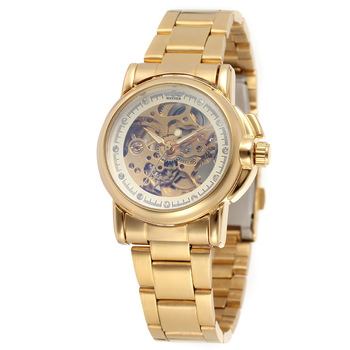 Winner женские роскошные Брендовые Часы, повседневные женские стальные часы, автоматические механические часы reloj mujer saat