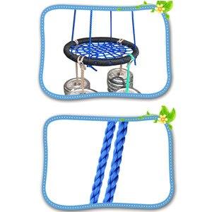 Image 5 - Çocuk yuvarlak yuva yuva salıncak kapalı ve açık askı çocuk Net halat Stout salıncak bebek oyuncakları 200 kg çapı 60cm TB