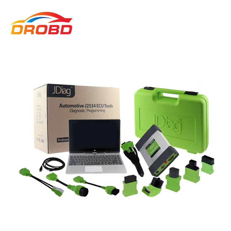 JDiag Elite J2534 Diagnostic Tool and Coding Programming Tool Diagnostic-Tool with Tablet PC Free Update Online Life Time