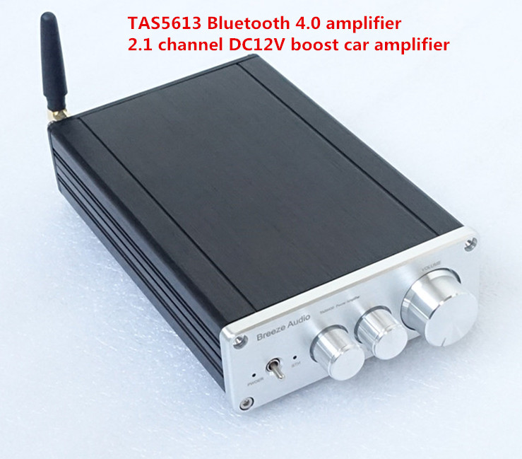 Finished Class D TAS5613 amp <font><b>Bluetooth</b></font> <font><b>4.0</b></font> <font><b>HIFI</b></font> Digital Power Amplifier 150W+75WX2 Stereo 2.1-Channel Mini DC12V car ampifier image