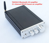 TAS5613 סיים Class D amp Bluetooth 4.0 HIFI הדיגיטלי מגבר כוח 150 W + 2.1 ערוץ מיני סטריאו 75WX2 DC12V רכב ampifier