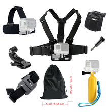 Accessori For Gopro Action camera Accessories kit Chest Head Strap for Go pro SJCAM SJ4000 Monopod Floating Bobber Mount 39