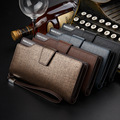 2017 New men wallets high quality long zipper purse organizer Clutch Brand luxury leather women wallets designer bag gold Casual