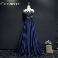 CEEWHY Robe De Soiree Lace Beading Plus Size Long Evening Dresses Bride Banquet Elegant Floor Length