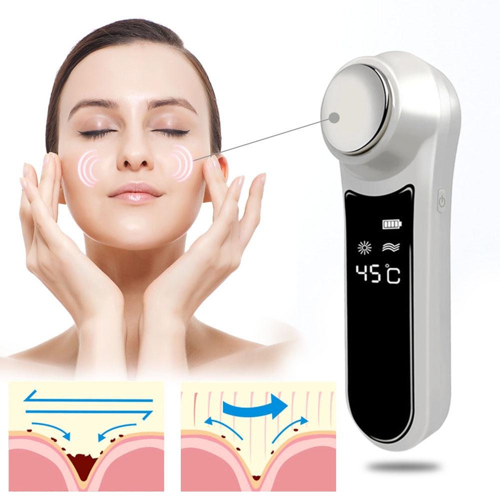 USB Ultrasons Visage Masseur Beauté Dispositif Ménage Opale Nettoyage Tendre Peau Rajeunissement Instrument