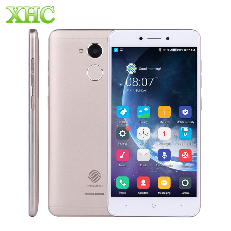 China Mobile A3S M653 RAM 2 GB ROM 16 GB Telefoni Cellulari di Impronte Digitali 5.2 pollice 8MP Android 7.1 Quad Core Dual SIM 4G LTE smartphone