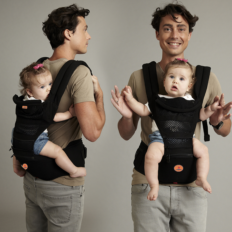 Multifunctional baby suspenders backpacks front carriers four seasons general baby stool back breathable double-shoulder bags
