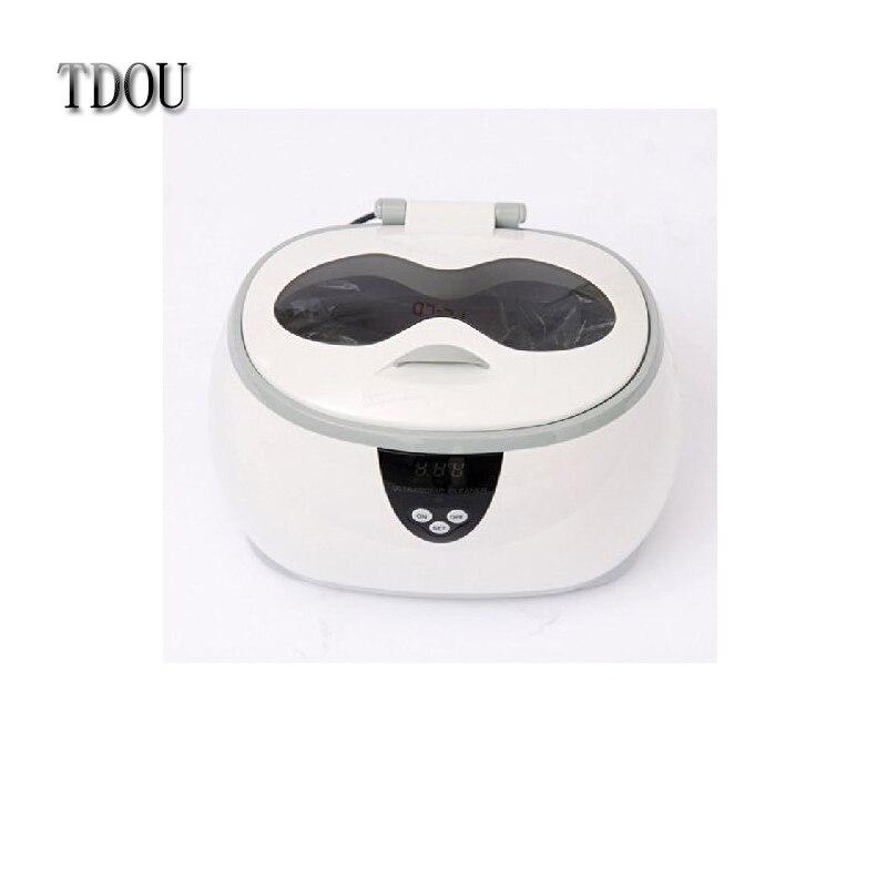 TDOUBEAUTY Dental 0.6L Digital Ultrasonic Cleaner untuk Ahli Bedah Gigi di Lab atau Klinik Gratis Pengiriman
