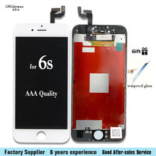 For iPhone 4s 5 5S 6 PLUS 6S LCD Display Module Touch Screen Digitizer Replacement Phone Parts Lcd Screen Assembly+Tempered film