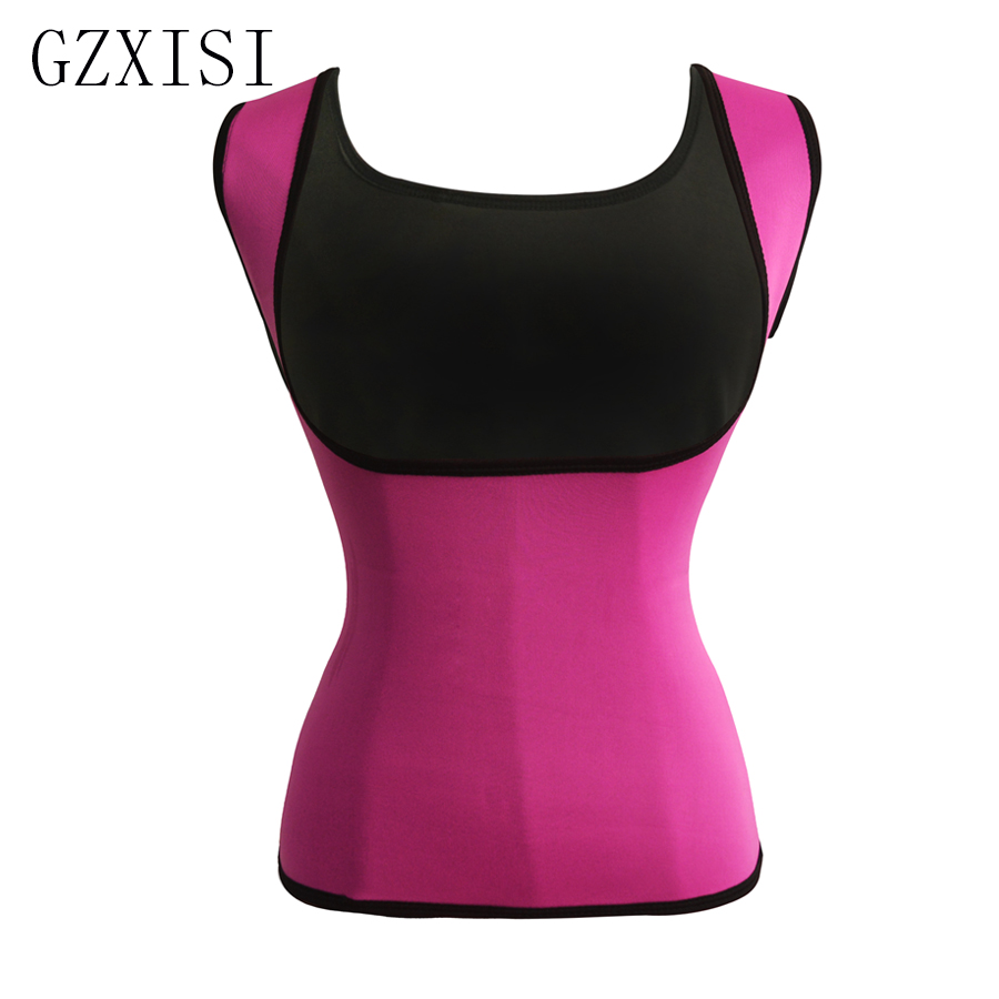 2017   Bustier     Corset   Underbust Belts Slimming   Corset   Vests Top Women Neoprene Body Shaper Weight Loss Sexy Pink   Corsets   Plus Size