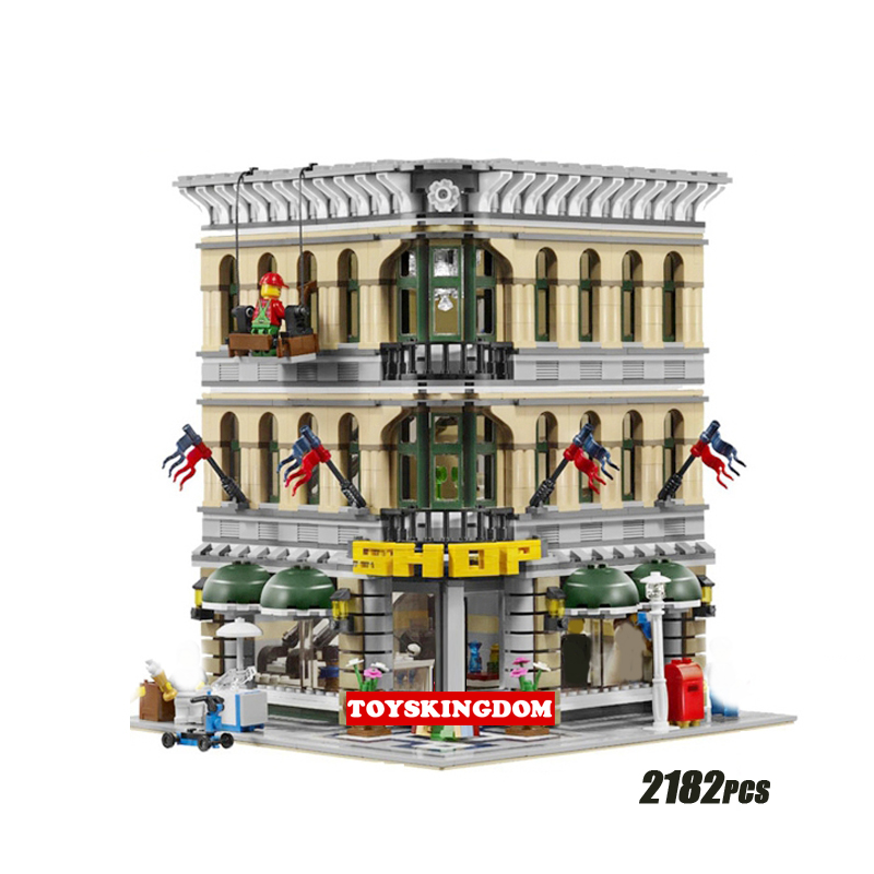Creator city street view Department store shop building block model figures bricks 10211 toys collection for adult kids gifts hot city series aviation private aircraft lepins building block crew passenger figures airplane cars bricks toys for kids gifts