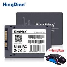 KingDian SSD 120 ГБ S280 + Мышь 3 года гарантии SATA3 2.5 дюймов жесткий диск 120 ГБ HD HDD напрямую с фабрики; гарантированное качество