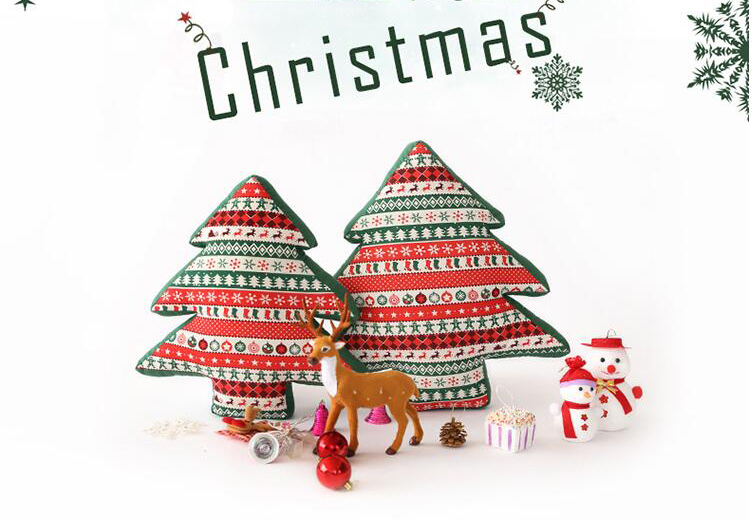 40x40cm Christmas Pillow New Year Decoration Cushion Lumbar Throw Pillow Chair Seat Sofa Car Christmas Decoration for Home