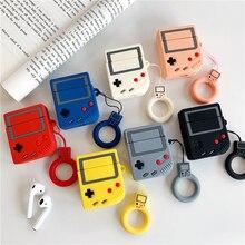 Game Boy الكلاسيكية لعبة وحدة التحكم سماعة حالات ل أبل سماعة لاسلكية تعمل بالبلوتوث سماعة Airpods سماعة غطاء الهواء القرون 2 اكسسوارات