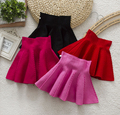 Brand Design New Fall Winter Knitted Toddler Girl Umbrella Skirt Baby Girl A-line Skirt For Kids Wholesale Red Black Hot pink