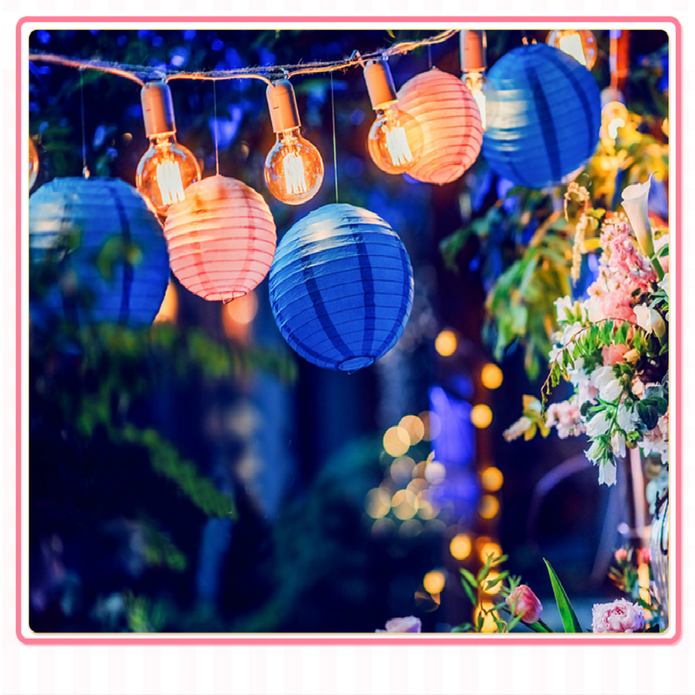 Party Supplies 12pcs Mixed Royal Blue Round Paper Lanterns Lamp Wedding Party Decor 8 10 12 Celebrations & Occasions