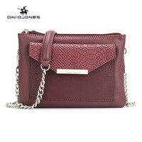 Davidjones Для женщин серпантин Crossbody PU Конверт сумки вечерние кошелек Bolsa feminina SAC основной