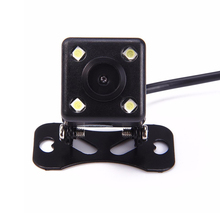 Lámpara de 170 Grados 4 LED de Visión Nocturna de Coches de Visión Trasera de Aparcamiento Cámara de Marcha Atrás de Copia de seguridad A Prueba de agua Sensor CCD de ALTA DEFINICIÓN