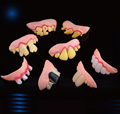 Hallowmas Day Horrific Artificial false tooth Prank Toy Simulation Trick Toy April Free Shipping