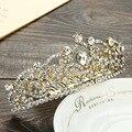 Versión coreana de la nueva corona de la aleación aliexpress venta de joyas de cristal de novia de la boda peine tocado de la novia peine