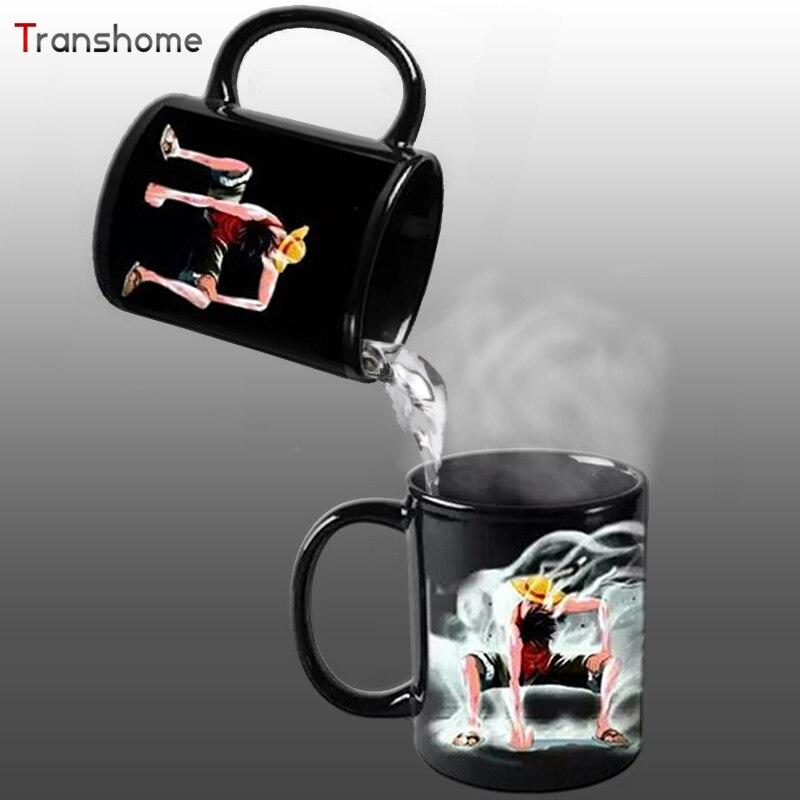 Luffy Color Changing Change Porcelain Mug Heat Sensitive Mug Ceramic Cup For Coffee Tea Milk Holiday