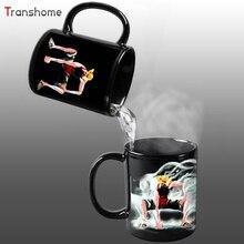 Luffy Farbwechsel/Ändern Porzellan Becher Wärmeempfindlichen Becher Keramik Tasse Für Kaffee Tee Milch Urlaub Geschenk Transhome