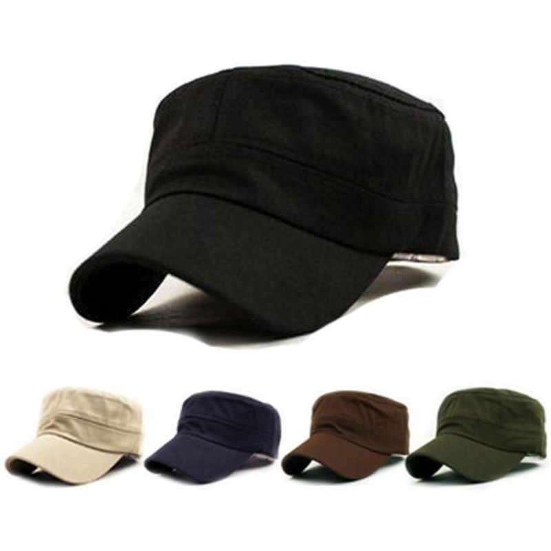 1PC 2018 Fashion Men Women Multicolor Unisex Adjustable Classic Style Plain  Flat Vintage Army Hat Cadet c11d5e650db8