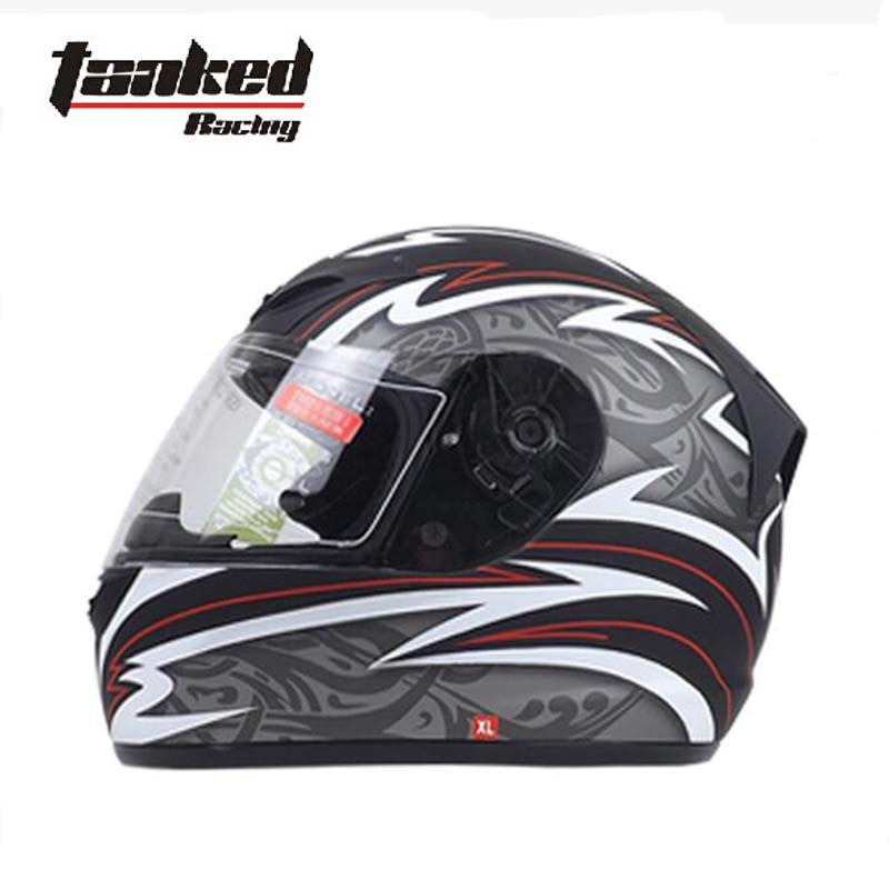 Germany Tanked Racing Full face motorcycle helmet ABS T112W full cover Motorbike vehicle safety helmets warm winter with scarf 2017 new knight protection gxt flip up motorcycle helmet g902 undrape face motorbike helmets made of abs and anti fogging lens