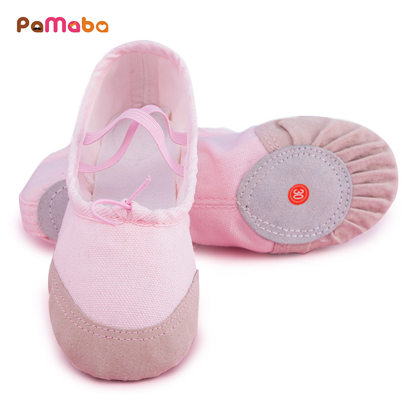 PaMaBa Baby Girls Ballet Pointe Shoes From Infant to Adult Girls Ballet Flats Childrens Ballet Yoga Gymnastics Dance Shoes ...