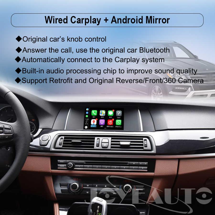 Joyeauto WIFI Wireless Apple Carplay Car Play for 09-19 BMW CIC NBT EVO 1 2  3 4 5 7 Series X1 X3 X4 X5 X6 Android Auto Mirror