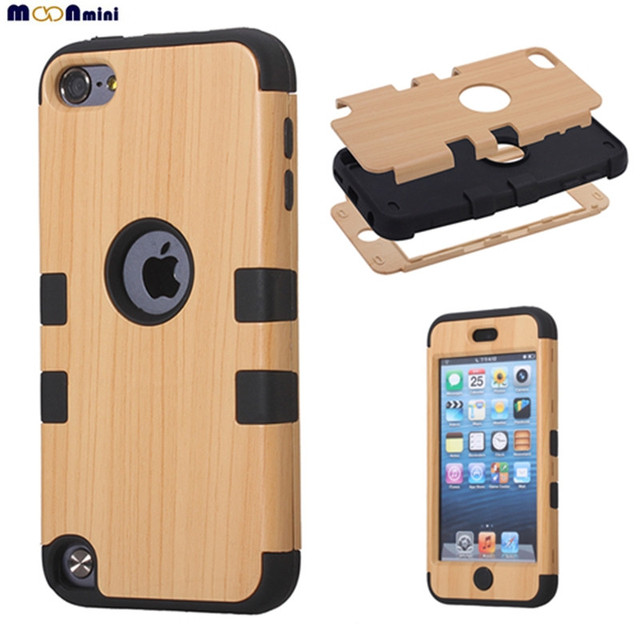 finest selection a3565 b0148 US $4.79 |Luxury Fashion TPU PC Wood Grain Hybrid Combo Body Armor  Shockproof Case Cover Protector Case For Apple iPod Touch 5 / Touch 6 on ...