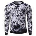 Горячий новый 3D стерео печати аватар Мужские sweatershirt snow leopard мужская тонкий капюшоном