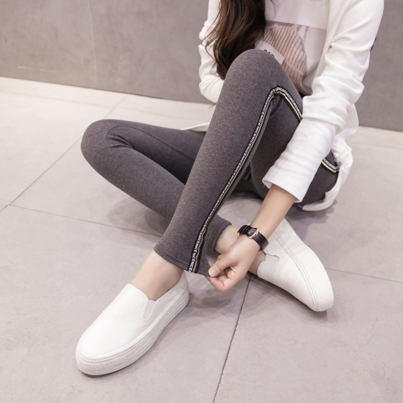 2018 Women Lady Activewear High Elastic Slim Black/Dark Gray Legging Autumn Pant High Waist Leggins Femael Plus Size 4XL 5